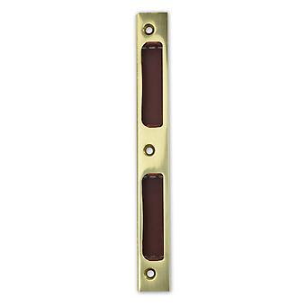 Premium M4TEC ZB8 Gloss Stainless Steel Strike Locking Door Plate – Angled With Plastic Insert - Sturdy, Durable & Easy To Install – DIN R/L – Suitable For Single-Turn Interior & WC/Bathroom Locks