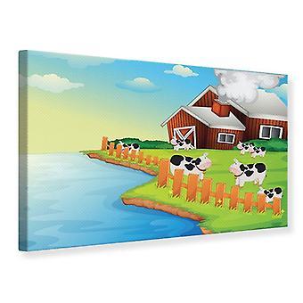 Canvas Print A koe maakt Muh