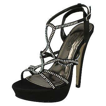 Ladies Spot On Strappy Heeled Sandals