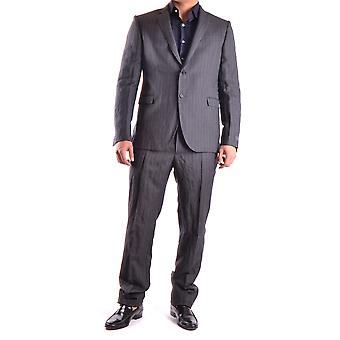 Costume national men's MCBI074017O grey wool suit