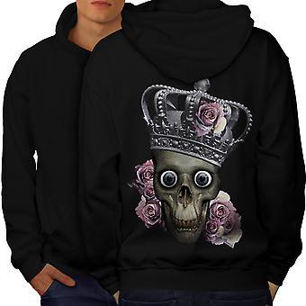 Queen Rose Death Men BlackHoodie Back | Wellcoda