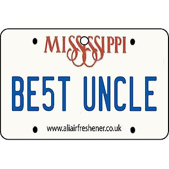 Mississippi - Best Uncle License Plate Car Air Freshener