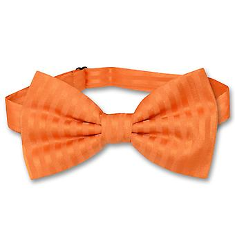 Vesuvio Napoli BOWTie Striped Vertical Stripes Men's Bow Tie