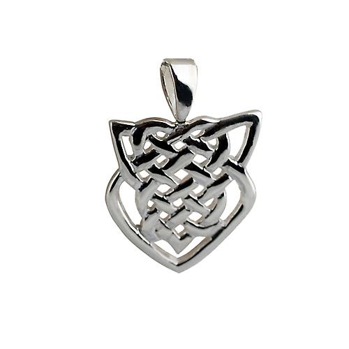 Silver 20x19mm Celtic knot Pendant