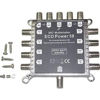 SAT multiswitch Smart MS-ECO58 Inputs (multiswitches): 5 (4 SAT/1 terrestrial)