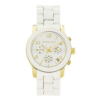 Michael Kors Watches Mk5145 Ladies Chronograph White Silicone Coated Stainless Watch