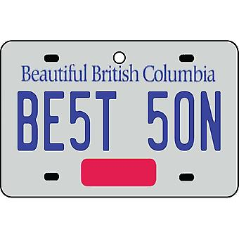 BRITISH COLUMBIA - Best Son License Plate Car Air Freshener