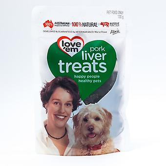 Love'Em Pork Liver Treats 100Gm