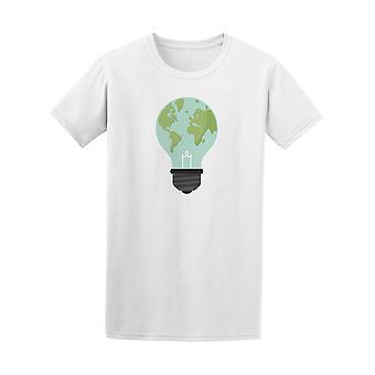 Eco lamppu maan kartta graafinen t-paita - kuva: Shutterstock