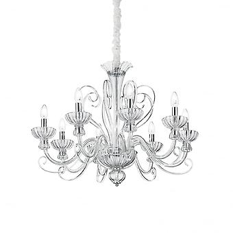 Ideal Lux Alexander Modern Acrylic Chandelier Light With 8 Arms