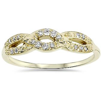 1/5ct Diamond Infinity Ring 10k Yellow Gold