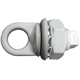 Hayward SP0404 White Cycolac Eyebolt Assembly with Locknut and Gasket