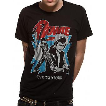 David Bowie - 1972 World Tour (Unisex) T-Shirt