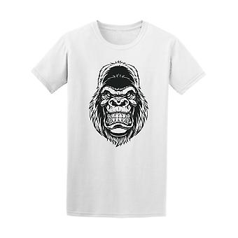 Comic-Wilden Gorilla Head T-Shirt Herren-Bild von Shutterstock
