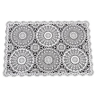 Coasters 4 pack Plastic in crochet look 30x45cm placemat