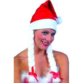 Plush Santa Hat with Plaits.** 3 only in stock **