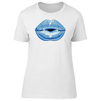 Lips With Micronesia States Flag Tee Women's -Image by Shutterstock