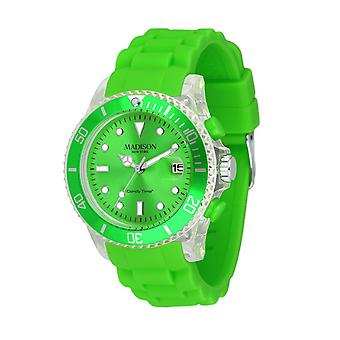 Candy time by Madison N.Y.. watch unisex U4399-10-1 green Flash
