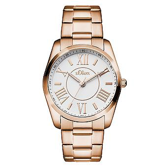 s.Oliver ladies wrist watch analog quartz IP Rosé SO-15118-MQR