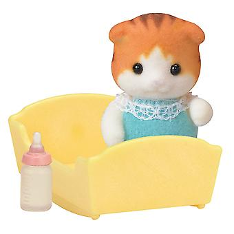 Sylvanian Families 5291 Maple Cat Baby Figure Set