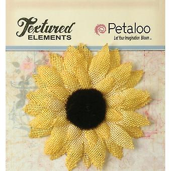 Textured Elements Burlap Sunflower 3.5