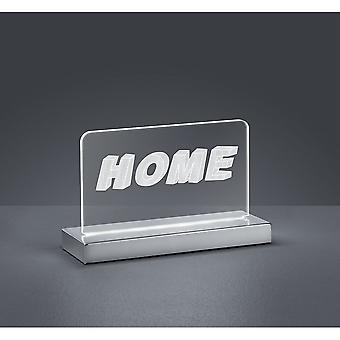 Trio Lighting Home Modern Chrome Metal Table Lamp