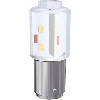 LED bouw lamp BA15D rood 24 Vdc, 24 V AC 2400 mlm MBRD151604 signaal