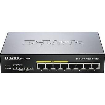 D-Link DGS-1008P Network RJ45 switch 8 ports 1 Gbit/s PoE