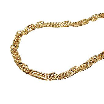 Chain 50 cm 1, 8 mm Singapore chain 9Kt GOLD