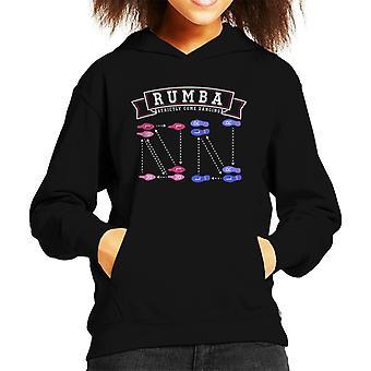 Rumba Dance Steps Strictly Come Dancing Kid's Hooded Sweatshirt