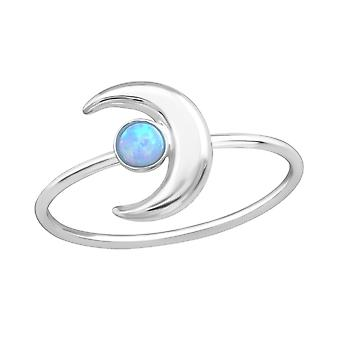 Moon - 925 Sterling Silver Jewelled Rings - W37178x
