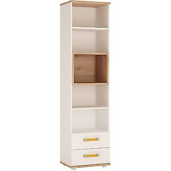 Furniture To Go 4 Kids Tall 2 Drawer White Bookcase