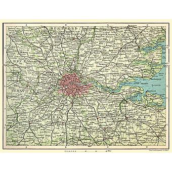 Railway Map Of Environs Of London 1908 1000 Piece Jigsaw Puzzle 690mm x 480mm (jhg)