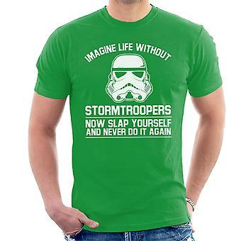 Stormtrooper original imaginar a vida sem t-shirt dos homens