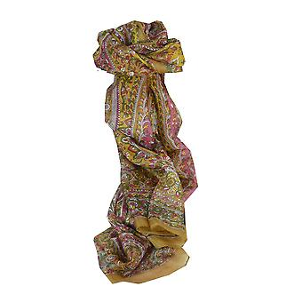 Mulberry Silk Traditional Long Scarf Esha Gold by Pashmina & Silk
