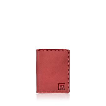 Lakeland Leather Credit Card Holder in Red