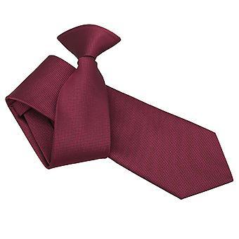Burgundy Solid Check Clip On Slim Tie