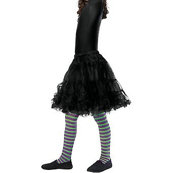 Wicked Witch Tights, Child, Purple & Green