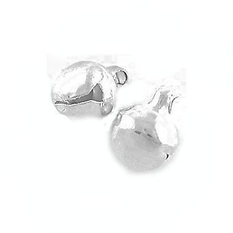 Packet 50 + Silver tibetanska 13mm jul Jingle Bell Charm/hänge ZX08920