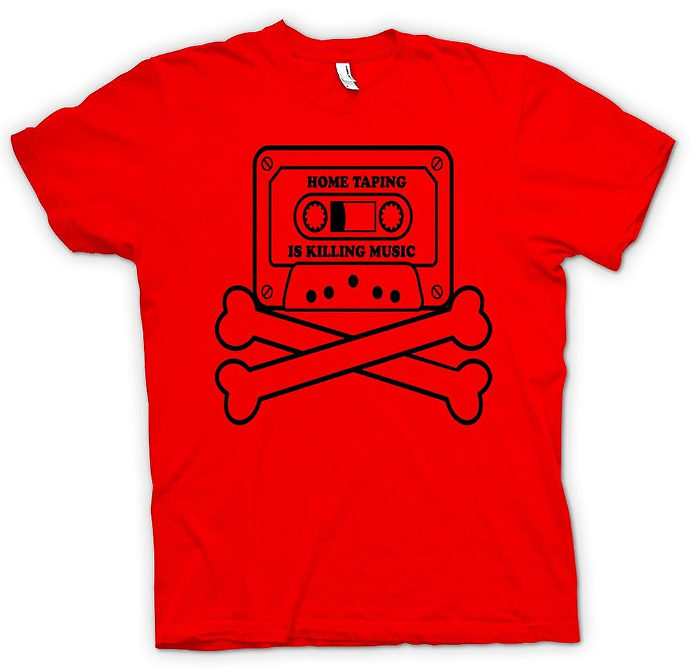 Mens t-shirt - Home Taping pirateria - Funny