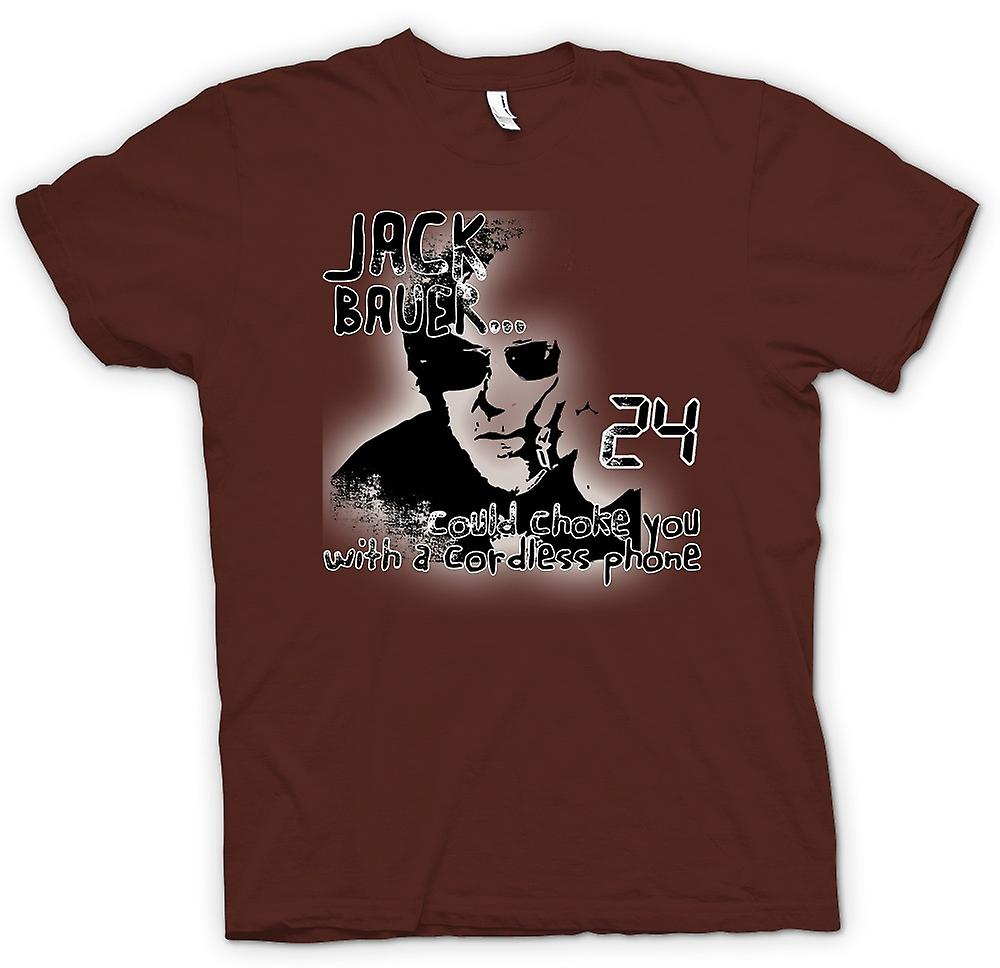Mens T-shirt - Jack Bauer 24 Choke You - Funny