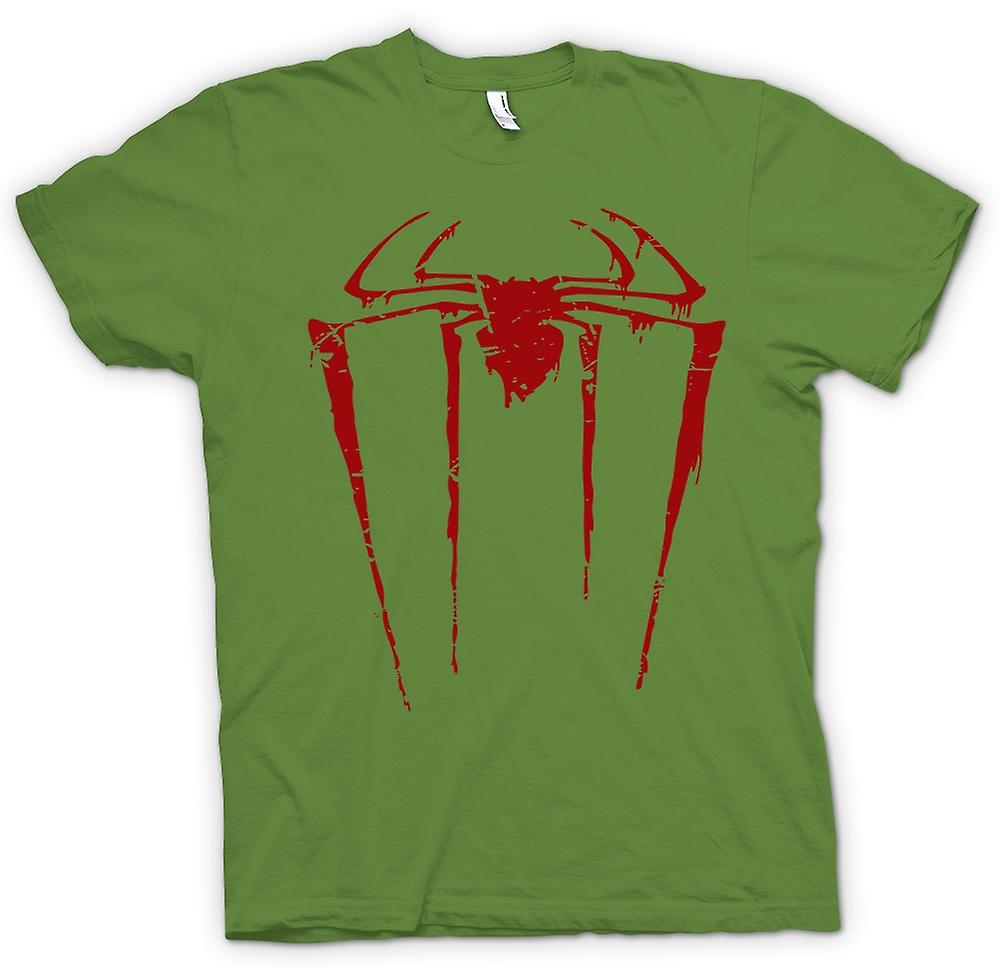 Hommes T-shirt - Spiderman Grunge Logo