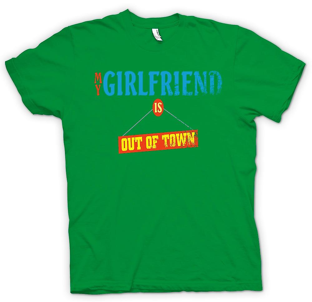 Mens T-shirt-meine Freundin ist aus der Stadt - Witz