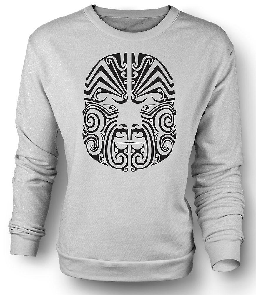 Mens Sweatshirt Mauri Tribal Tattoo Design