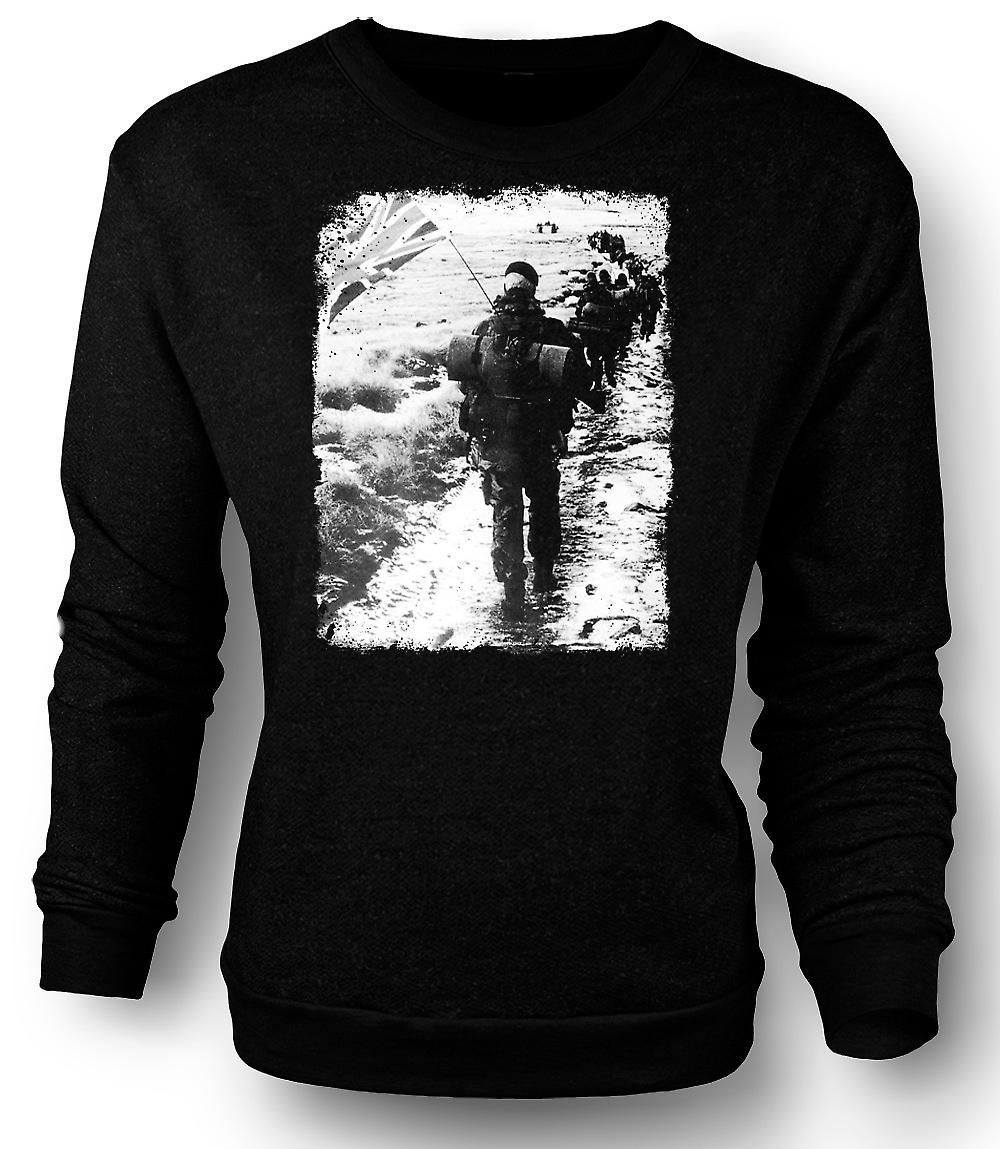 Mens Sweatshirt Royal Marines Falklands Carrot