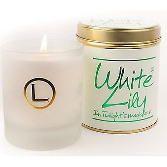 Lily Flame Scented Glassware Candle - White Lily