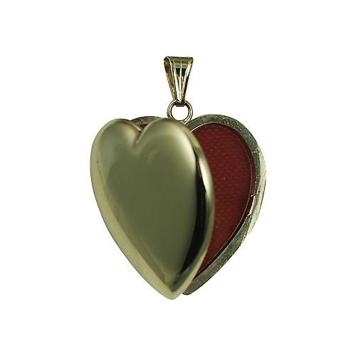9ct Gold 30x28mm plain heart shaped Locket