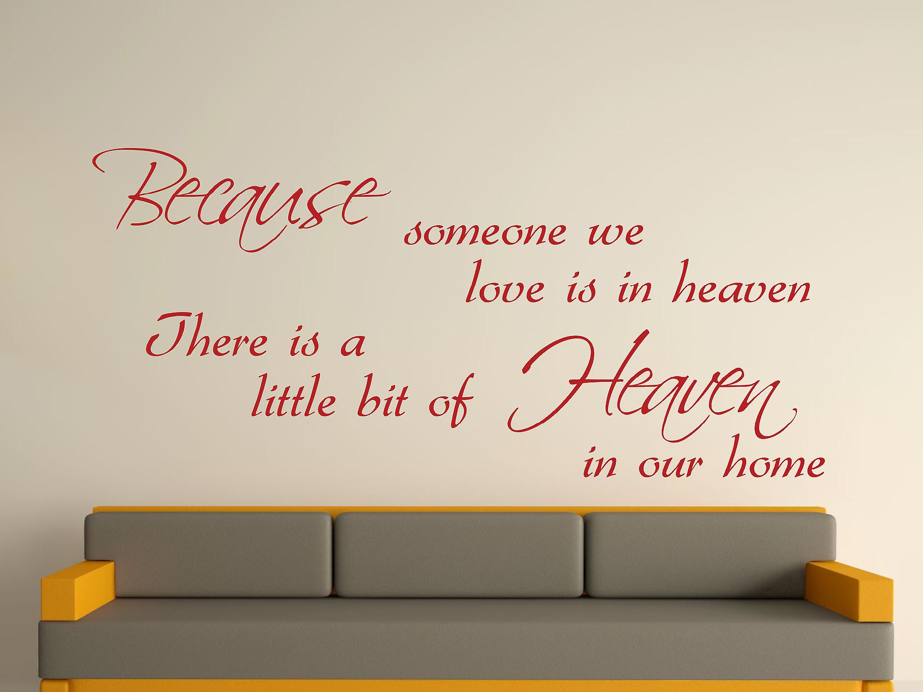 Because Someone Wall Art Sticker - Dark Red
