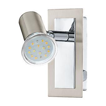 Eglo - Rottelo cetim níquel e cromo ajustável LED de parede luz EG90914