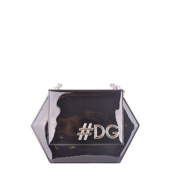 Dolce E Gabbana Black Leather Shoulder Bag